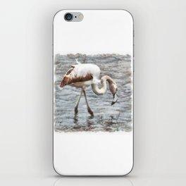 Knee Deep Flamingo Watercolor iPhone Skin