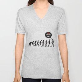 Evolution. Stop Following Me Unisex V-Neck
