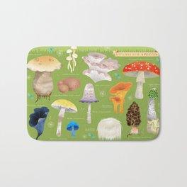 Mushroom Species Bath Mat