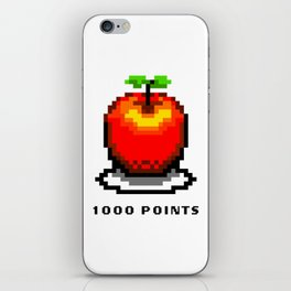 Retro Video Game Pixel Art Apple 1000 Points iPhone Skin