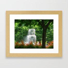 Montreal Fountain Framed Art Print