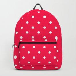 Fuchsia Polka Dots Backpack