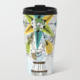 Hot Air Balloon Mandala Travel Mug