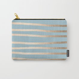 Abstract Drawn Stripes Gold Tropical Ocean Sea Blue Carry-All Pouch