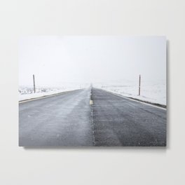 Road to Snowhere Metal Print