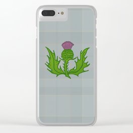 scotland thistle Clear iPhone Case