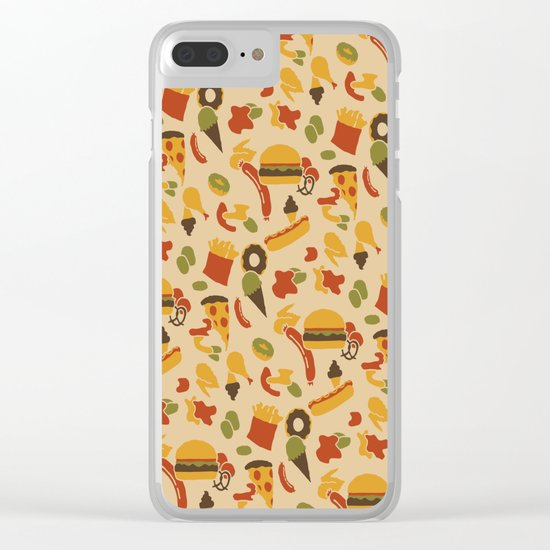 Fast Foodouflage Clear iPhone Case