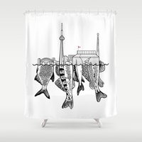 toronto Shower Curtains featuring Toronto by CAB Architects