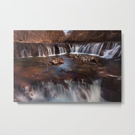 Sgwd y Bedol, South Wales Metal Print