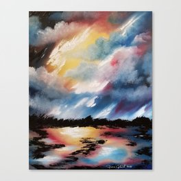 Moody Sunset, Dark Sunset, Abstract Sunset, Seascape, Sunscape, Skyscape Canvas Print