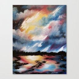 Moody Sunset, Dark Sunset, Abstract Sunset, Seascape, Sunscape, Skyscape Canvas Print
