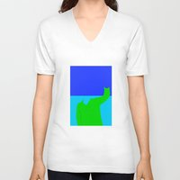 wave V-neck T-shirts featuring Wave by jt7art&design