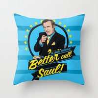 better call saul Throw Pillows featuring Better Call Saul by Akyanyme