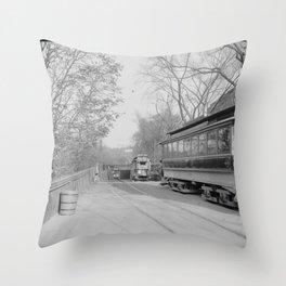 Public Gardens Portal, Tremont Street Subway, Boston 1904 Throw Pillow