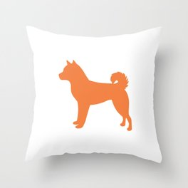 Shiba Inu (Orange/White) Throw Pillow