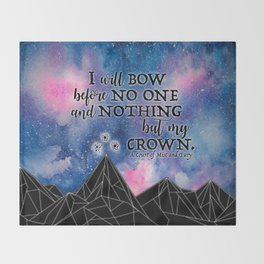 ACOMAF - Bow before no one Throw Blanket
