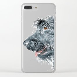 Black Labradoodle Clear iPhone Case