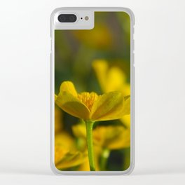 Marsh Marigold Clear iPhone Case