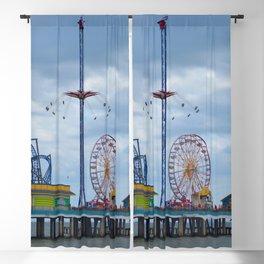 Pleasure Pier - Galveston Texas Blackout Curtain