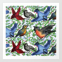 Songbird Bash Art Print