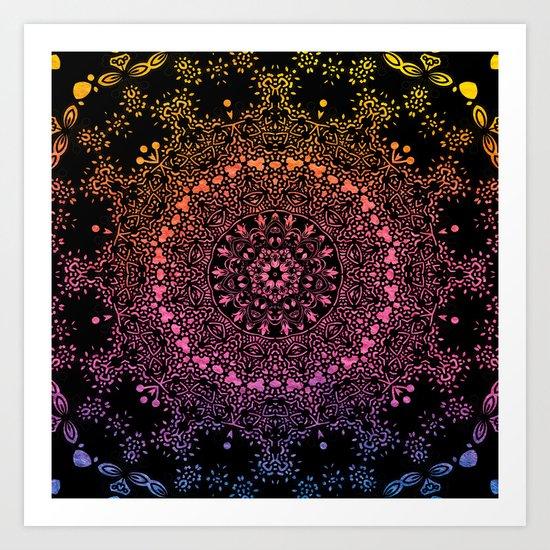 Harlequin Fantasy Mandala Art Print