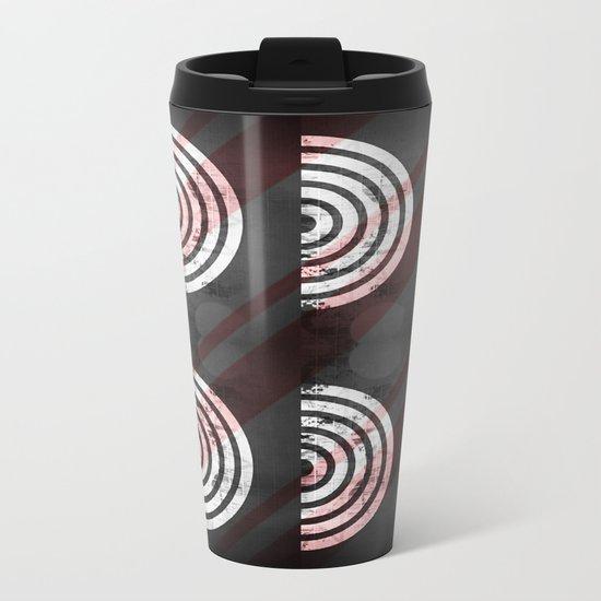 Target Record With Stripes Metal Travel Mug