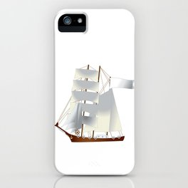 Ship, steamer, steamship, boat iPhone Case