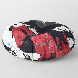 ABRAHAM LINCOLN INK SPLASH RED MAKE MUSIC NOT WAR Floor Pillow