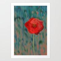 alone Art Prints featuring Alone by Klara Acel