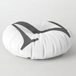 Letter N Initial Monogram Black and White Floor Pillow