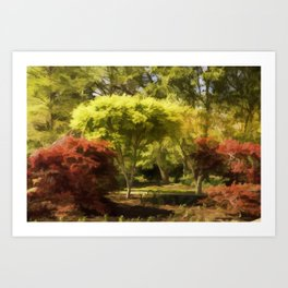 A Walk In The Woods Painting Art Print