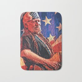 Willie Nelson Bath Mat