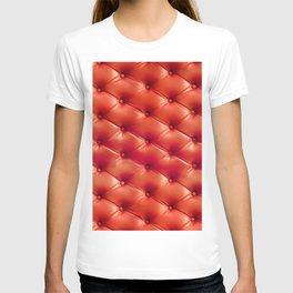 Vintage deep burgundy dark red pattern T-shirt