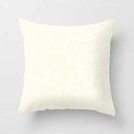 Tiny Spots - White and Cornsilk Yellow Throw Pillow