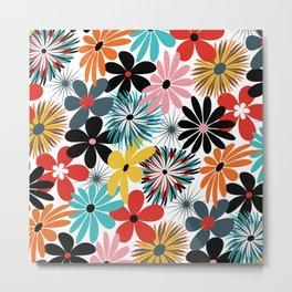 Colorful Flower Extravaganza Metal Print