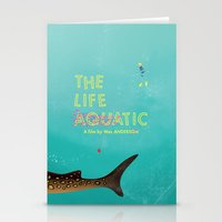 the life aquatic Stationery Cards featuring The Life Aquatic by Wharton