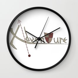 Adventure Letterform Wall Clock