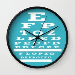 Optometrist Eye Chart Wall Clock