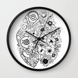Left Brain - Right Brain Wall Clock