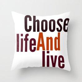 Live Throw Pillow