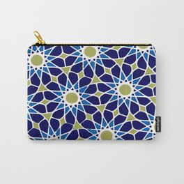 Blue & Green Mosaic Pattern Carry-All Pouch