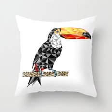 Toucanic Throw Pillow
