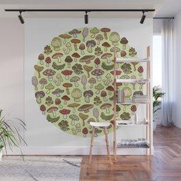 Mushroom Circle Wall Mural