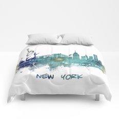 New York City Skyline blue Comforters