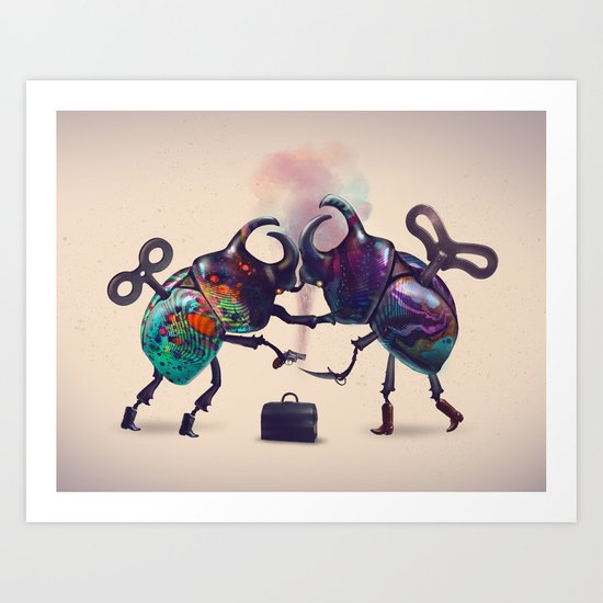 Fight Art Print