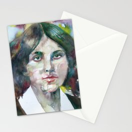 LOUISA MAY ALCOTT watercolor portrait Stationery Cards