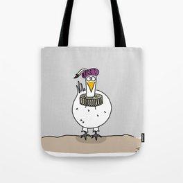 Eglantine la poule (the hen) dressed up as a troubadour Tote Bag