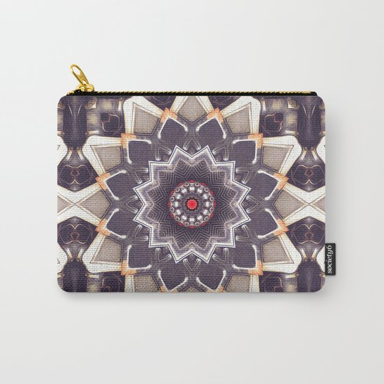 Abstract Gray Mandala Carry-All Pouch
