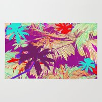 palm trees Area & Throw Rugs featuring Palm Trees by Marcella Wylie