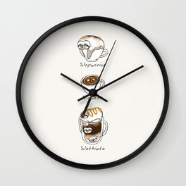 Slow Life Coffee Wall Clock